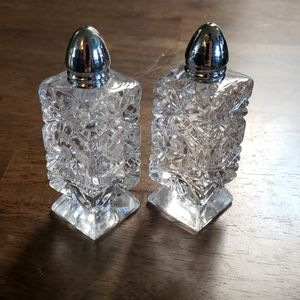 Other - Vintage Cut crystal salt and pepper shakers.